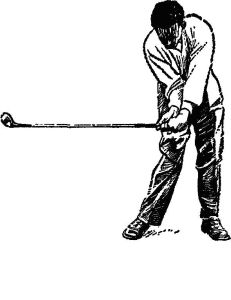 golf swing follow through left illustration